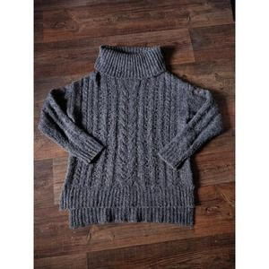 Smartwool Gray Chunky Knit Cowl Neck Sweater S